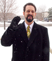 Steve Johnson in the Snow